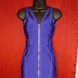 Bebe blue mini dress